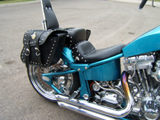 Customized motorcycle seat