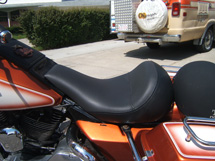 Customized foam motorcycle seat