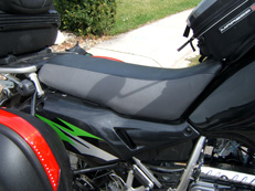 Gel pad motorcycle seats