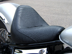 Alternative materials for motorcycle seat covers