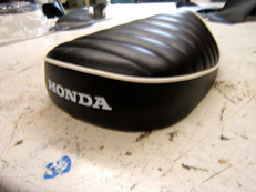 Honda Seat with Piping and Special Stitching