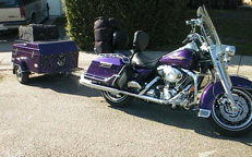 Trailer fronts, fork covers, wrist bands - motorcycle accessories