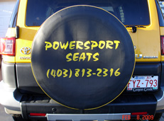 Powersport Seats can do tire covers